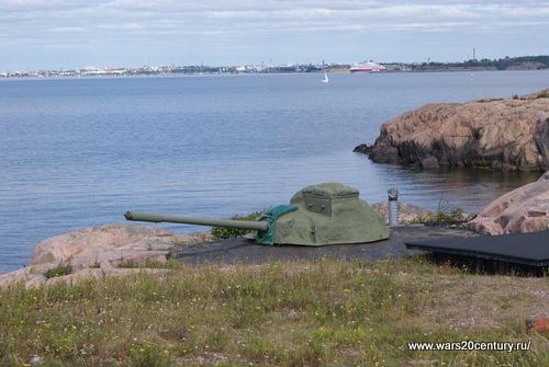 100 мм береговое орудие на Куйвасаари