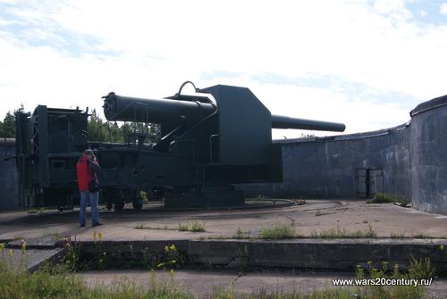 10-ти дюймовое орудие системы Бринка обр. 1895 года в 45 калибров на станке Дурляхера на Куйвасаари