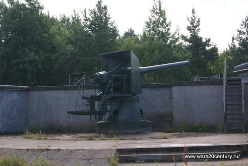 6-ти дюймовое орудие Кане на береговом станке на Куйвасаари