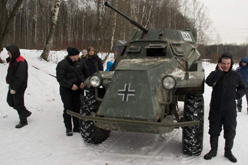 реконструкция, легкий броневик Sd.Kfz.2 <!--